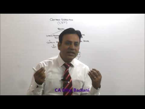 CA / CMA : Indirect Tax : Central Sales Tax : Lecture 1 : CST
