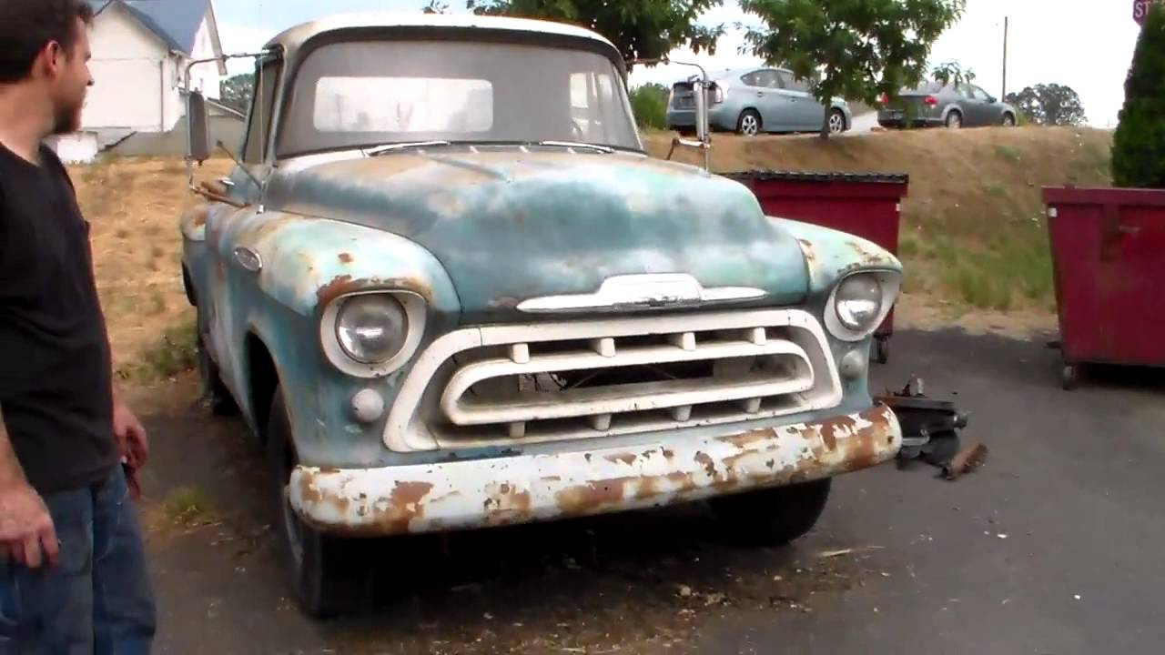 Classic Truck Rescue 57 Chevy Stepside Youtube 1957 Pickup