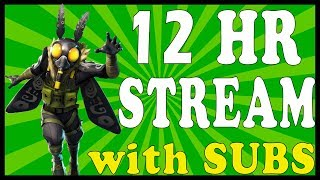 "FORTNITE 12 HOUR STREAM! - NEW ""MOTHMANDO"" SKIN in FORTNITE // SOLO, DUO and SQUAD!"