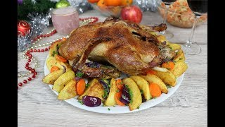 Утка с яблоками на праздничный стол самый простой рецепт