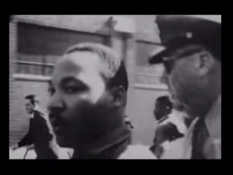 Martin Luther King arrested while praying (Footage)