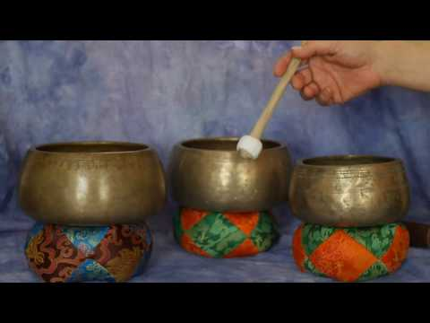 Mani 3 Bowl Auric Healing Set ~ Notes C#/D#/G