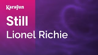 Karaoke Still - Lionel Richie *