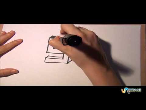 Come disegnare la lettera S in 3D