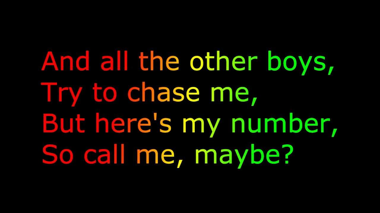 """Call Me Maybe"" [LYRICS+FREE DOWNLOAD"