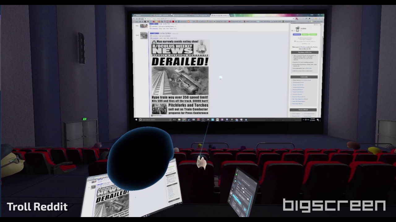 Bigscreen' Now Supports Windows VR, PSVR and Mobile Headsets
