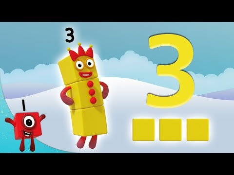 Numberblocks - The Number 3 | Learn to Count | Learning Blocks