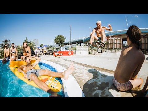 DIY Pool Party Unites Local Skate Crews in Vienna