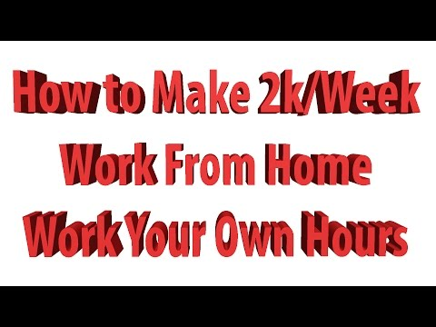Earn 2k/Week or More Working Part Time From Home!