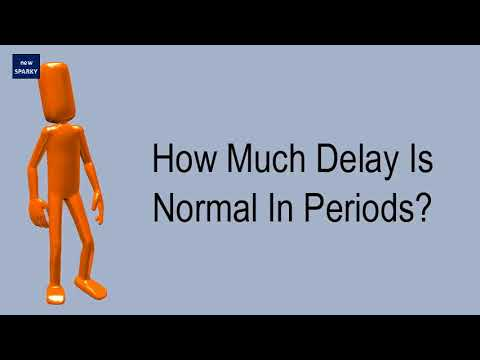 how-much-delay-is-normal-in-periods?