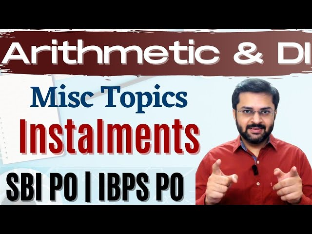 Arithmetic: Miscellaneous topics | SBI PO 2017 Online Classes #DAY 50