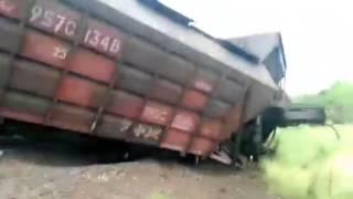 Сход вагонов на ЖД Молдовы ( CFM). Перегон Злоти-Кайнары.