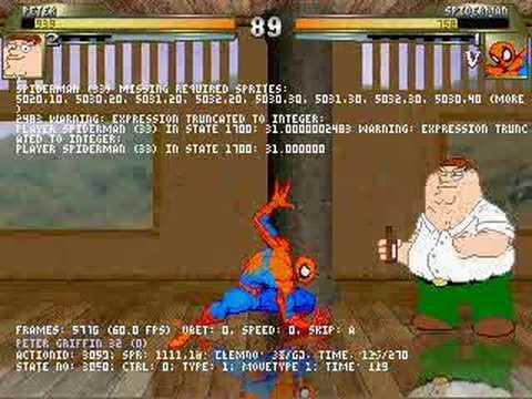 Peter Griffin vs Spiderman