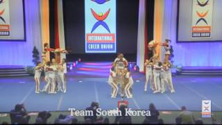 Team South Korea - 2016 International cheer union - Coed Elite