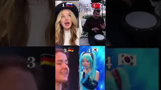 Dünyanın en zor şarkısı Türkiye Vs Diğerleri