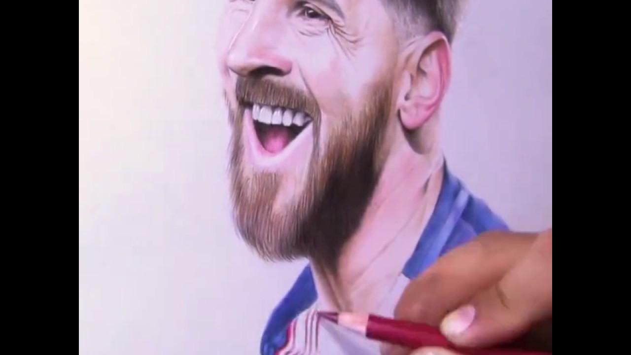 Vẽ MESSI bằng bút chì quá đẹp !!!