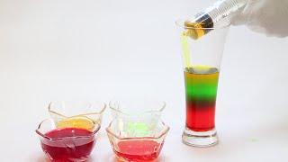 sugar water density experiment