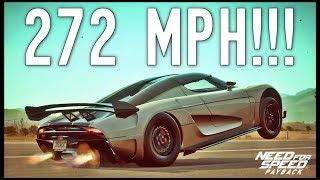 NFS Payback - 272MPH KOENIGSEGG REGERA with RARE UPGRADES!!