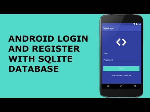 ANDROID LOGIN AND REGISTER WITH SQLITE DATABASE PT1
