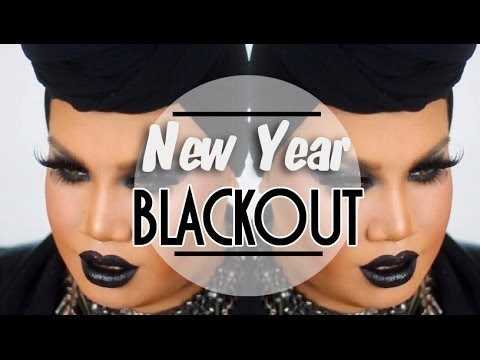 Black Glitter Smokey Eye with Black Lips Makeup Tutorial | PatrickStarrr thumbnail
