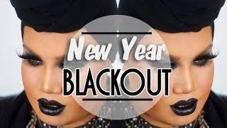 Black Glitter Smokey Eye with Black Lips Makeup Tutorial | PatrickStarrr