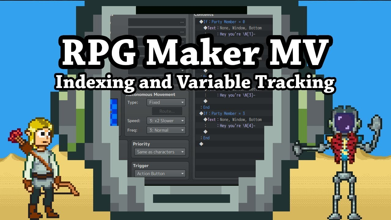 RPG Maker MV Indexing and Variable Tracking