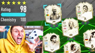 198 RATED!! *NEW* ICON MOMENTS FUT DRAFT!! - FIFA 20