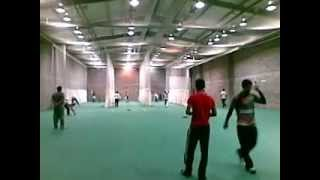 Our lads bowling in nets to Afghanistan cricket team's Captain in Dublin Ireland