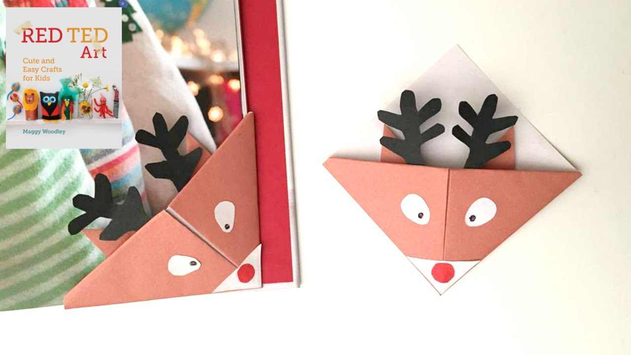 CHRISTMAS CRAFTS - Easy Reindeer Bookmarks for Christmas - YouTube