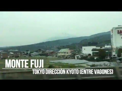 Vistas desde Shinkasen Hikari al monte Fuji