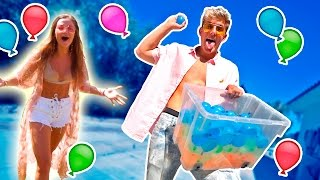 HOT GIRLS GET WATER BALLOONED **PRANK WARS**