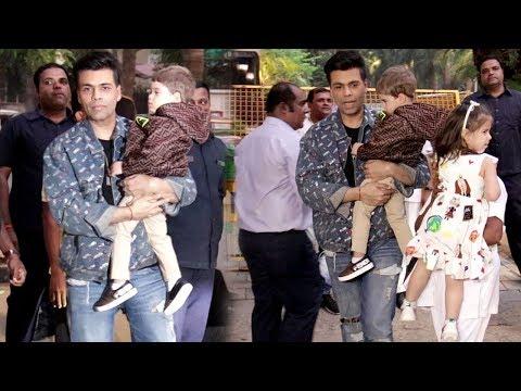 Karan Johar Along With Twin's Kids Attended Aaradhya Bachchan 8th Birthday Bash