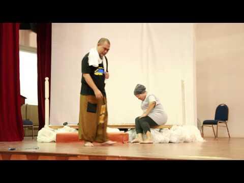 Latihan untuk teater Bagaton di Dewan Bahasa dan Pustaka