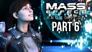 MASS EFFECT ANDROMEDA Walkthrough Part 6 - VAULT & NEW CREW MEMBERS (Female) Full Game