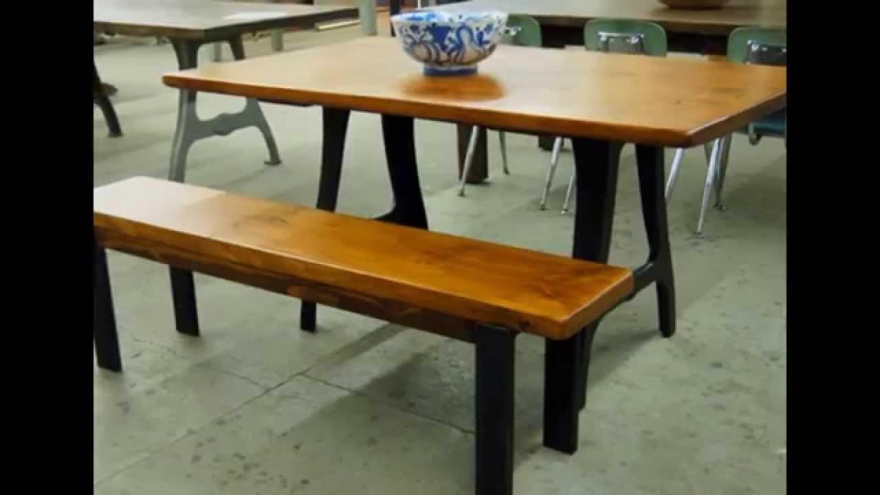 steel table legs by