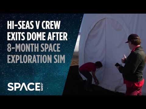 HI-SEAS V Crew Exits Dome After 8-Month Space Exploration Simulation