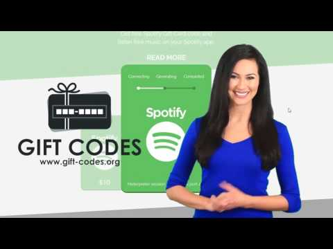 Spotify Gift Card Codes - Free Tutorial 2017