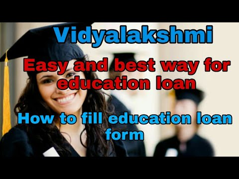 How to Fill vidyalakshmi education portal education loan form.Complete details about vidyalakshmi
