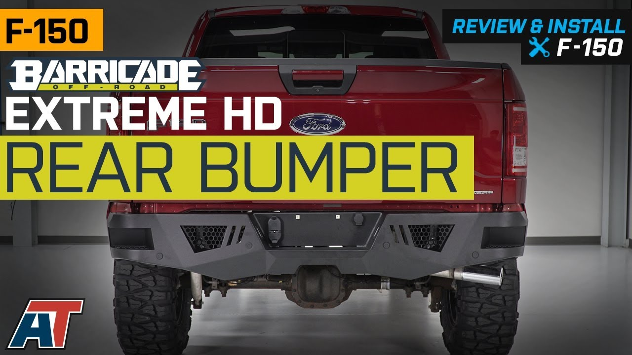 barricade f 150 extreme hd rear bumper for factory hitches t530971 15 19 f 150 excluding raptor  [ 1280 x 720 Pixel ]