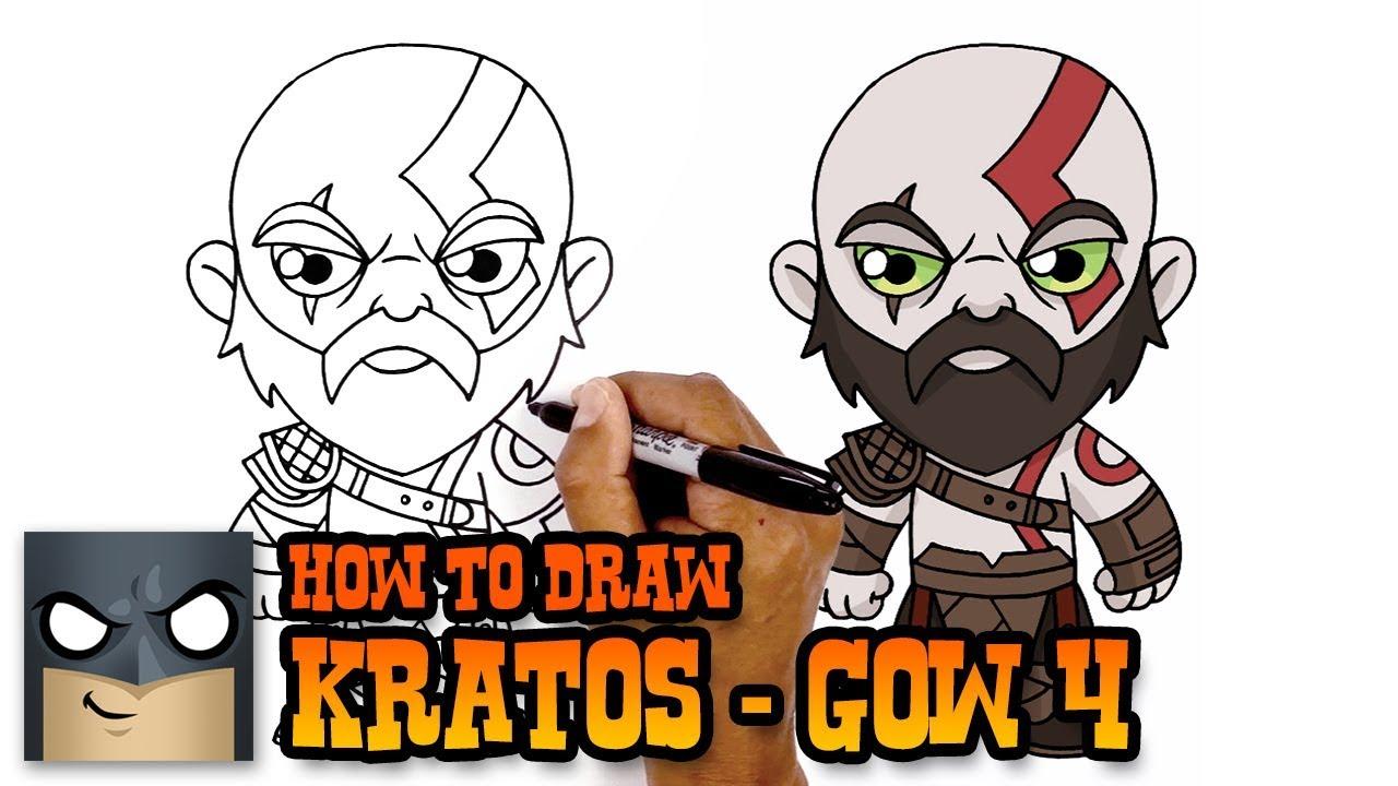 God Of War How To Draw Kratos Art Tutorial