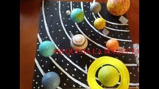 como hacer una maqueta del sistema solar (How to make the solar system)