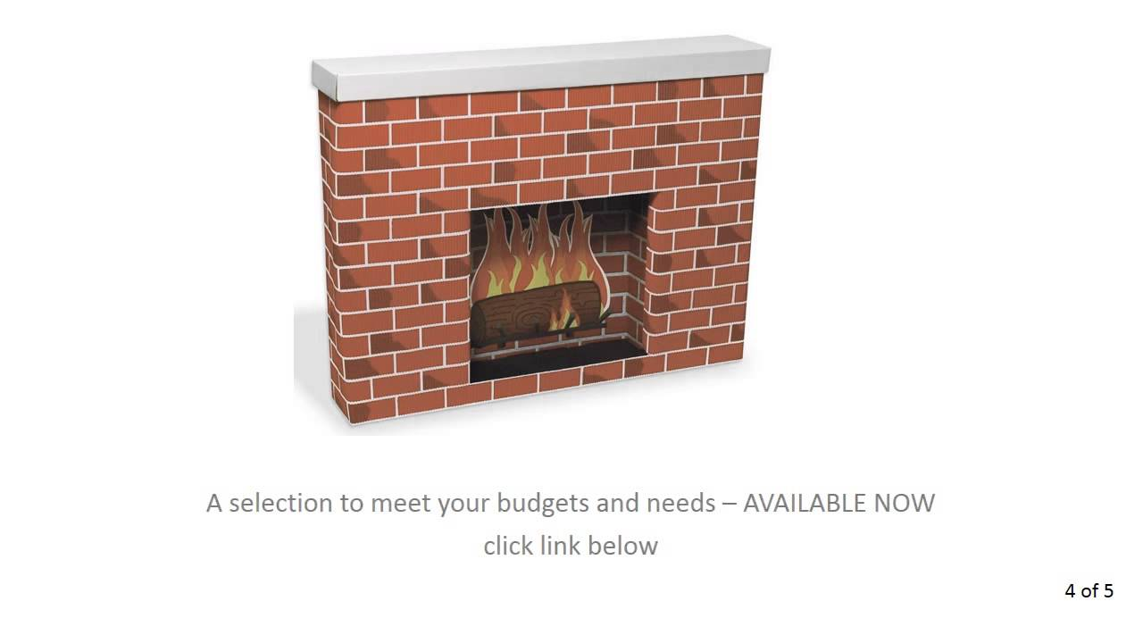 where buy cardboard fireplace available now youtube