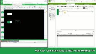 Vijeo XD - Communiceren naar M221 het gebruik van Modbus TCP