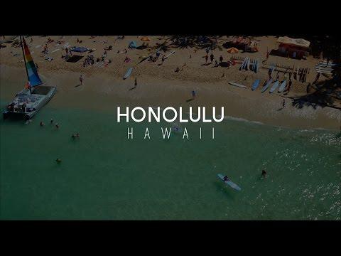 Waikiki Beach Honolulu Hawaii Aerial Video 4K