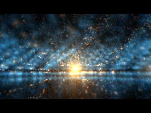 4K Moving Background -  Particle Sunset Orange Blue Horizon - AA VFX
