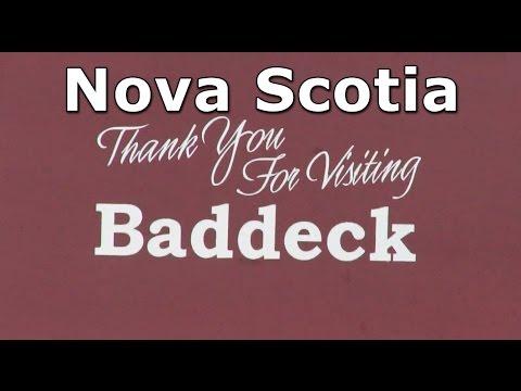 Baddeck Village on Cabot Trail in Nova Scotia