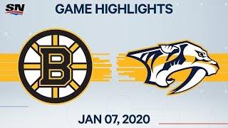 NHL Highlights   Bruins vs Predators – Jan. 7, 2020