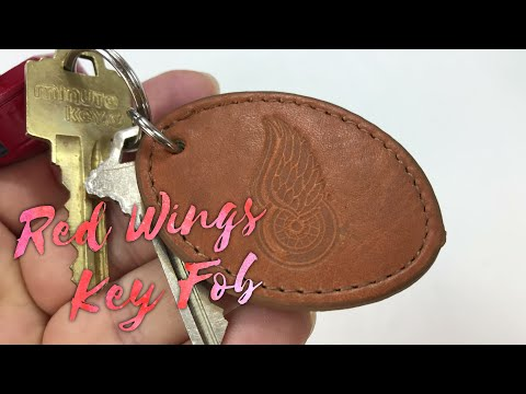 Detroit NHL Red Wings Leather Keychain Key Fob Review