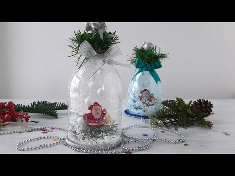 Бесплатно и шикарно: новогодний декор из пластиковых бутылок