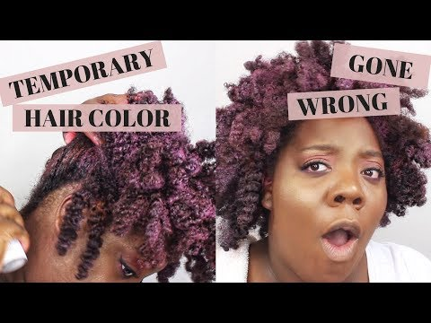 Dark & Lovely Temp Hair Color Gone Wrong! | LYNELLA